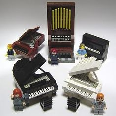 If there is a young pianist and Lego lover in your home, this is perfect! Inspire their love for design and music all at the same time. Sadly the video instructions is gone, but this link has several shots of the black grand piano that may not be hard to duplicate. The upright also looks fairly easy