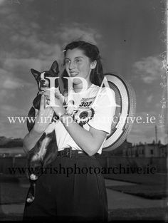 irishphotoarchive www.ie Black and white images of Ireland, Dog Show - Annual Bray Black N White Images, Black And White, Images Of Ireland, Dog Show, Photo Archive, 1950s, Gallery, Dogs, Black N White
