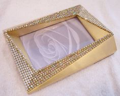 Gold Tone Photo Frame covered in Clear and by AveryRoseStudio