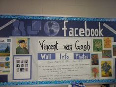 Bulletin Boards to Remember: Facebook Board re: Famous Artists