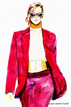Fashion Illustration  Jennifer Purcell  Acne Fall 2012