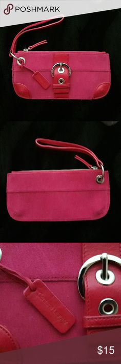 Pink Suede Wristlet Cute Bath and Body Works Pink Suede Wristlet Bath & Body Works Bags Clutches & Wristlets