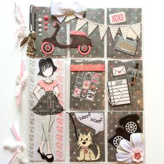 Pocket Letters ❤ Prima Doll Pink & Gray with Puppy