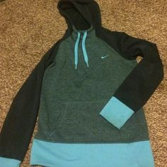 Nike therma-fit jacket Blue nike for jacket like new. Wore it a few times but was kinda small on me. Nike Jackets & Coats