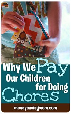 Wondering whether you give your children allowance or not? This post has some GREAT thoughts on why you SHOULD pay your children... and how to set up a paid and non-paid chore system. #savings #creditunion #children #chores