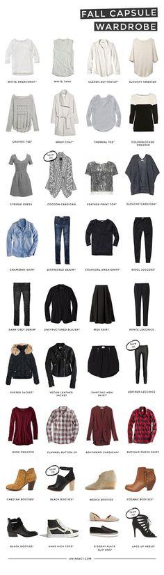 my capsule wardrobe // fall 2014 (via Bloglovin.com )