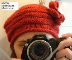 les explications du modèle du beret (marie claire idées de 2005).