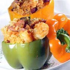 Cajun Style Stuffed Peppers (a new twist on stuffed peppers)
