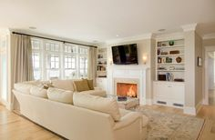 The Beech House - traditional - family room - boston - OLSON LEWIS + Architects