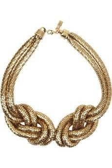 knots necklace. Could make simply using chain mail chain, or a very thick double length of cord. Could add a pendant. (Mom)