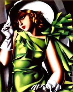 Art Deco painting #F