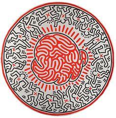 Keith Haring ~ Untitled, 1985 (mandala)