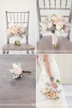 Gorgeous soft and feminine bridal bouquet