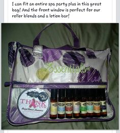 Essential oils in the Thirty-One Hostess Beauty Bag.