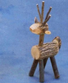 REINDEER Willow Wood log rustic recycled by riverbottom Cabin Christmas, Christmas Wood, Christmas Projects, Christmas Ornaments, Wood Animals, Tree Branch Crafts, Wood Reindeer, Animal Cutouts, Twig Furniture