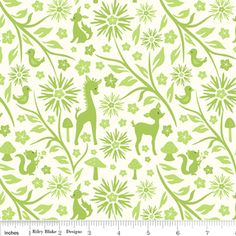 Sheri Berry Designs - Woodland Tails - Vine in Green