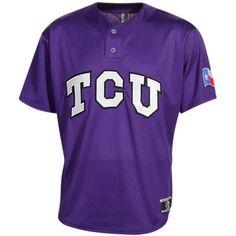 TCU Replica Baseball Jersey - Purple