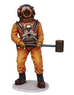 Deep Sea Diver Statue Life Size Statue Prop Display