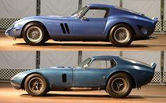 Simeone Museum compares the Cobra Daytona Coupe and Ferrari 250 GTO (Feb 2013) - Club Cobra 1965 Shelby Cobra, Shelby Car, Vintage Sports Cars, Classic Sports Cars, Classic Cars, Sports Car Racing, Sport Cars, Ferrari 250 Gto, Shelby Daytona
