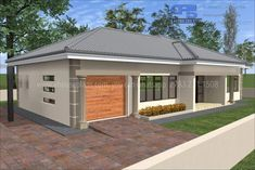 Town House Plans, House Plans Mansion, Free House Plans, Family House Plans, Two Bedroom House Design, Three Bedroom House Plan, Rural House, House 2, Architect Design House