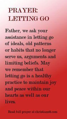 Prayer: Letting Go