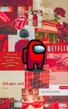 Among Us wallpaper (Red)