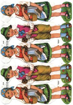 German paper dolls* 1500 free paper dolls at artist Arielle Gabriel's The International Paper Doll Society also free China and Japan paper dolls at The China Adventures of Arielle Gabriel for my Pinterest pals *