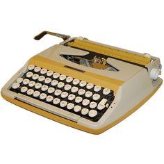 Yellow Smith Corona Corsair Typewriter