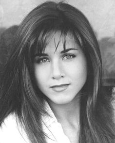 Young Jennifer Aniston Black and White Headshot