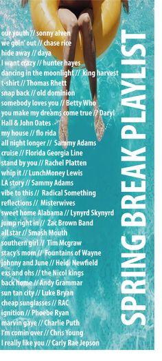 Spring Break Playlist                                                                                                                                                      More
