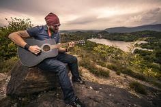 Guitarrista, Guitarra Acústica, Homem, Menino, Paisagem