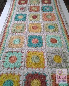 Camino de mesa de 1,50 mts x 60 cm, tejido a crochet en hilo…