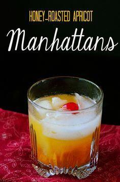 Honey-Roasted Apricot Manhattan | soletshangout.com