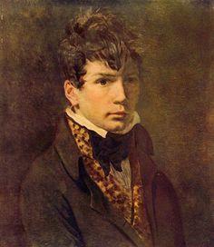 Jaques-Louis David - Portrait of Jean-Auguste-Dominique Ingres, 1800