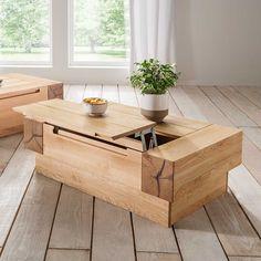 Grosser Holztisch Aus Ulme Naturholz