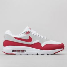 Nike Air Max 1 Ultra Essential Shoes - White/Varsity Red