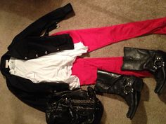 Red skinny jeans outfit #27