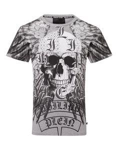 "PHILIPP PLEIN T-Shirt Round Neck Ss ""Kumare Hotfix"". #philippplein #cloth #"