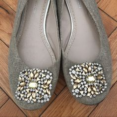 Adrienne Vittadini Sapphire Flats Ballet flats perfect for the office. Slightly worn but in great condition. Adrienne Vittadini Shoes Flats & Loafers