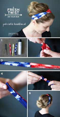 The Fourth of July is around the corner, literally. This is the time of year when it is totally acceptable to be twinsies with the American flag. We thought we would give you a helping hand with our Twistband DIY Patriotic Headband!