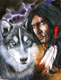 FULLCANG mosaic needlework diamond painting cross stitch American indians and wolf full square diamond embroidery kits Native American Wolf, Native American Wisdom, Native American Pictures, Native American Artwork, Native American Beauty, Indian Pictures, American Indian Art, Native American History, American Indians