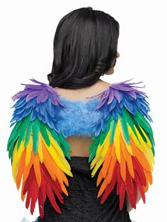 Rainbow Bird Costume Pride Parade Adult Feather Wings