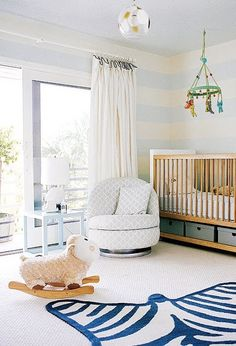 This rug is a show stopper! #modern #nursery