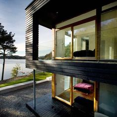 Villa Storingavika, a private residence located on the outskirts of Bergen, Norway.