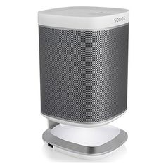 Sonos All-in-One Wireless Music Streaming Speaker with Flexson Illuminated Charging Stand (White) Sonos Speaker Stand, Sonos Speakers, Desktop Speakers, Tower Speakers, Sound Speaker, Speaker Stands, Sonos Play 1, Sonos One, Music Power