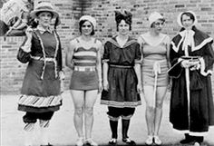 Bathing suits thru the ages
