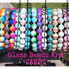 GORGEOUS GLASS BEAD HEMATITE BRACELETS GORGEOUS Glass Bead Hematite Bracelets. 8mm size glass beads, STUNNING Colors. These bracelets are adjustable to fit any size wrist. Honestly, the pictures DO NOT do these beauties justice. They are so pretty. They look amazing worn alone, two or more together OR Stacked with other arm candy. You will not be disappointed!PRICE IS $10 PER BRACELET AND IS FIRMBUNDLE DISCOUNTS - ALWAYS!! Boutique Jewelry