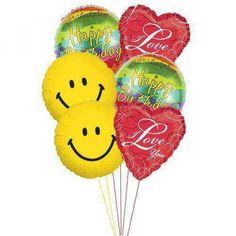Love is nourishment and anyone can have it at any time. Giving the love on a birthday, is such best thing to make someone stay or come back with you. Pick up this bouquet with heart-shaped balloons and see how you can make your special person to smile even bigger.