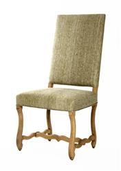 Freija French Country Grey Silk Dining Chair   Kathy Kuo Home