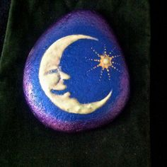 A Glow in the dark Crescent Moon Rock